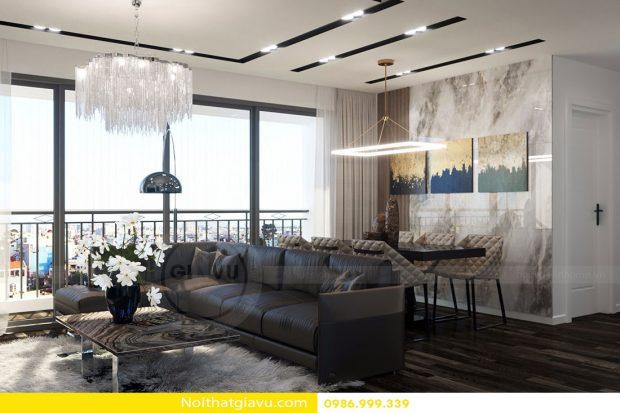 Thiết kế nội thất chung cư D'Capitale tòa C3 căn hộ số 06
