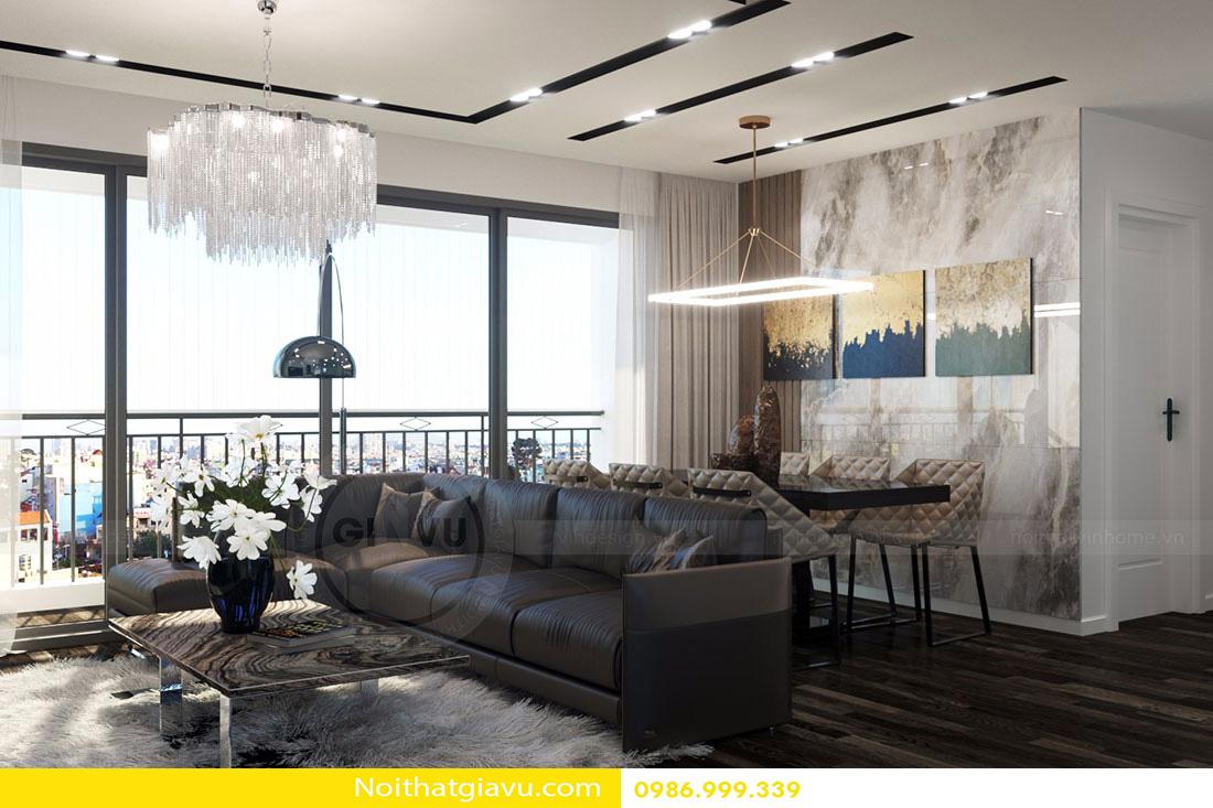 thiết kế nội thất chung cư d'capitale tòa c3 căn 06 005