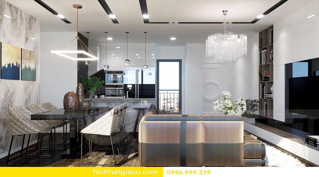 thiết kế nội thất chung cư d'capitale tòa c3 căn 06 006