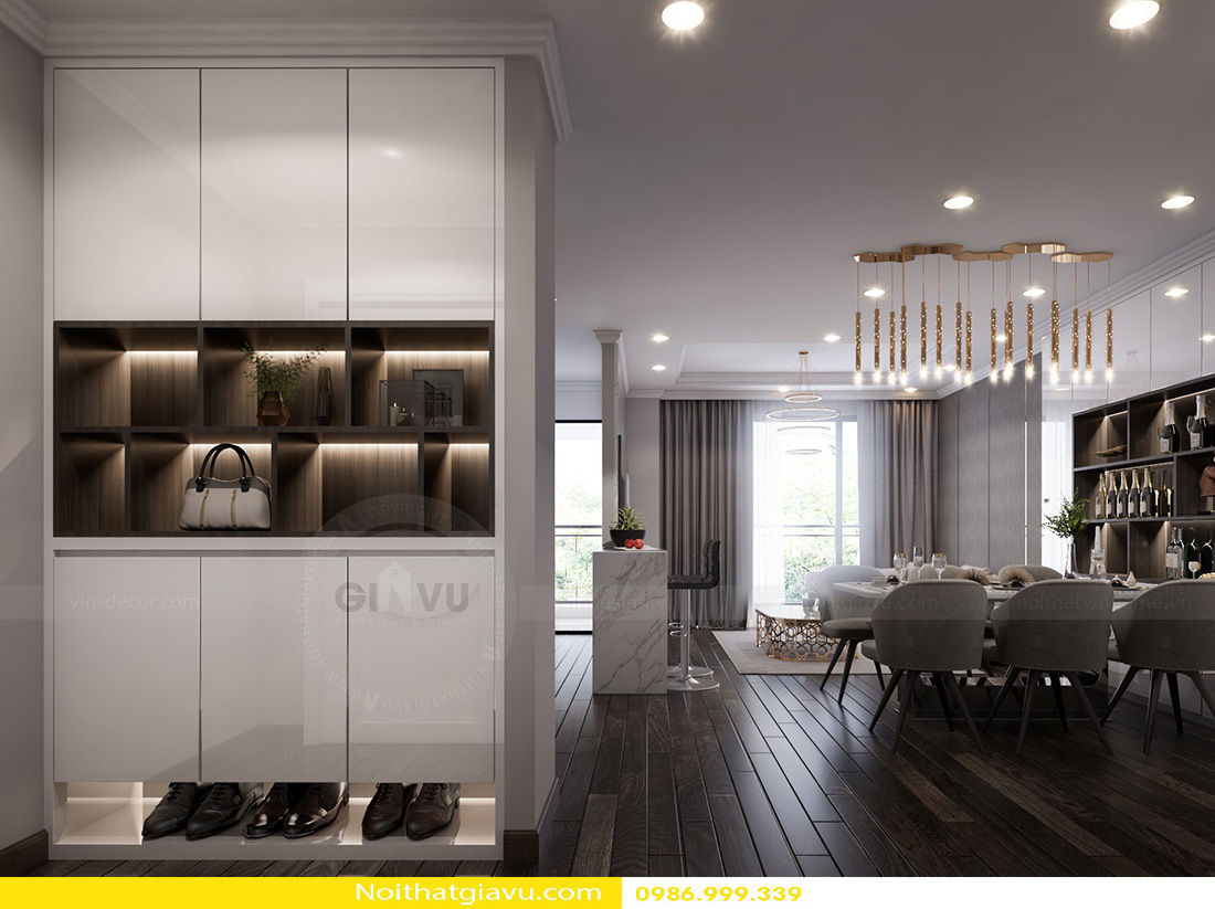 thiết kế nội thất chung cư Gardenia a2 11 01