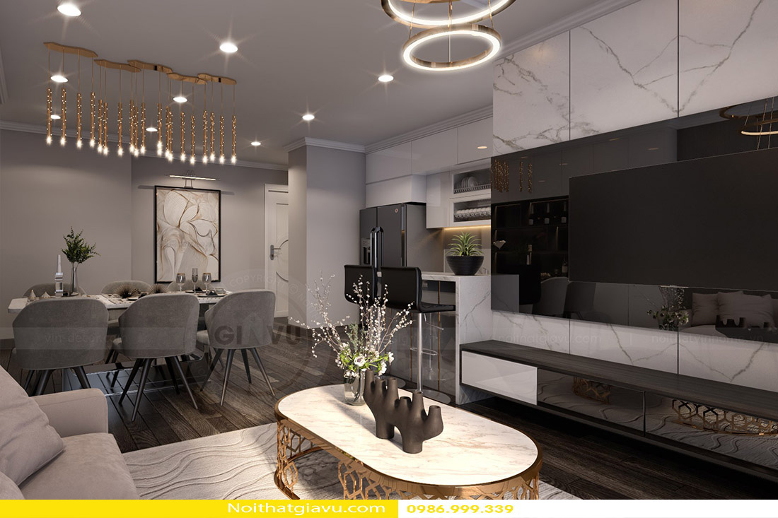 thiết kế nội thất chung cư Gardenia a2 11 03