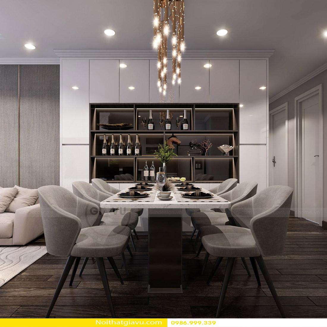 thiết kế nội thất chung cư Gardenia a2 11 05