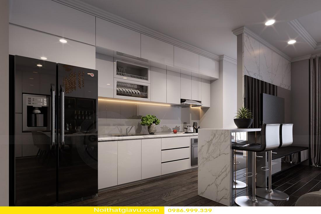 thiết kế nội thất chung cư Gardenia a2 11 06