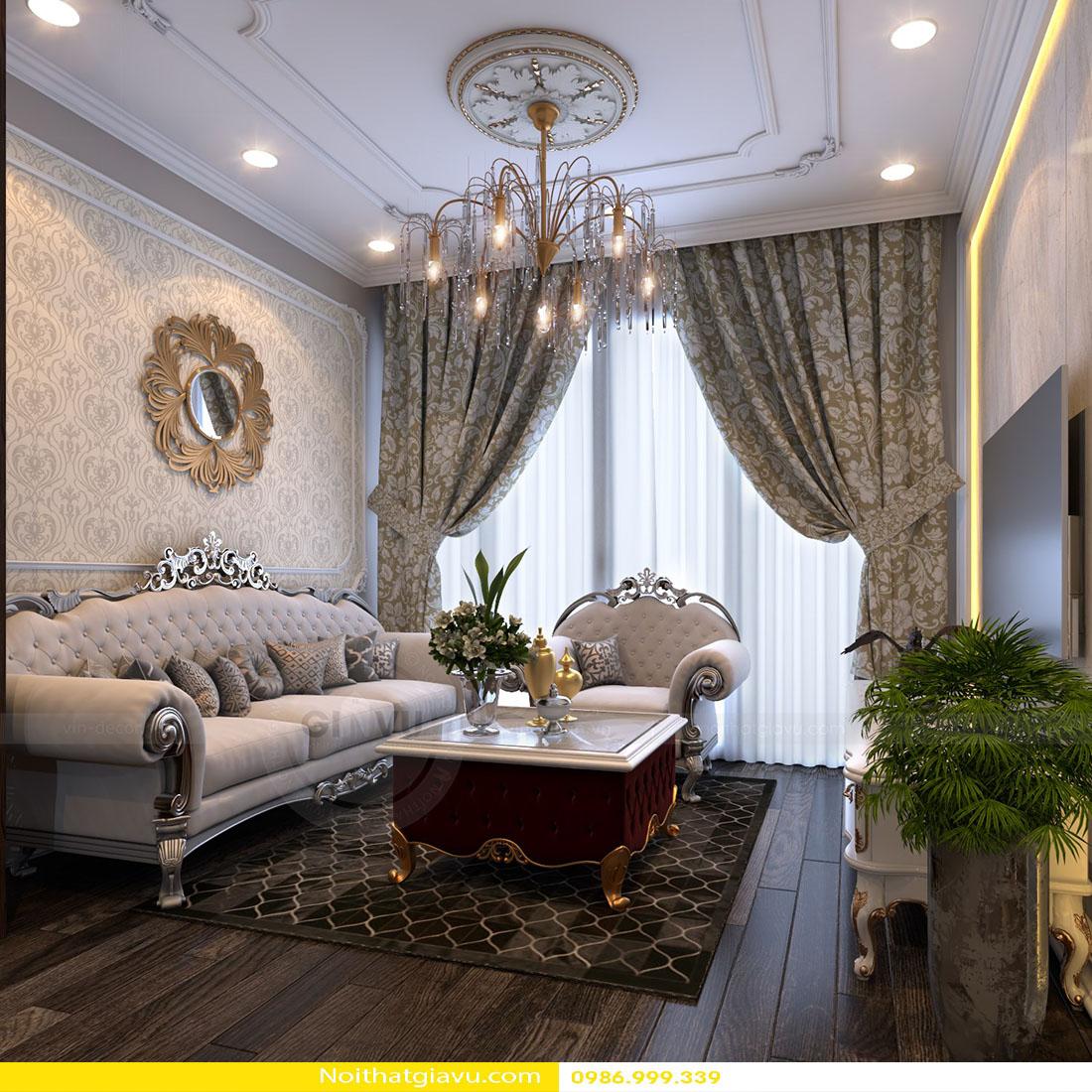 thiết kế nội thất chung cư Gardenia tòa a2 căn 06 01