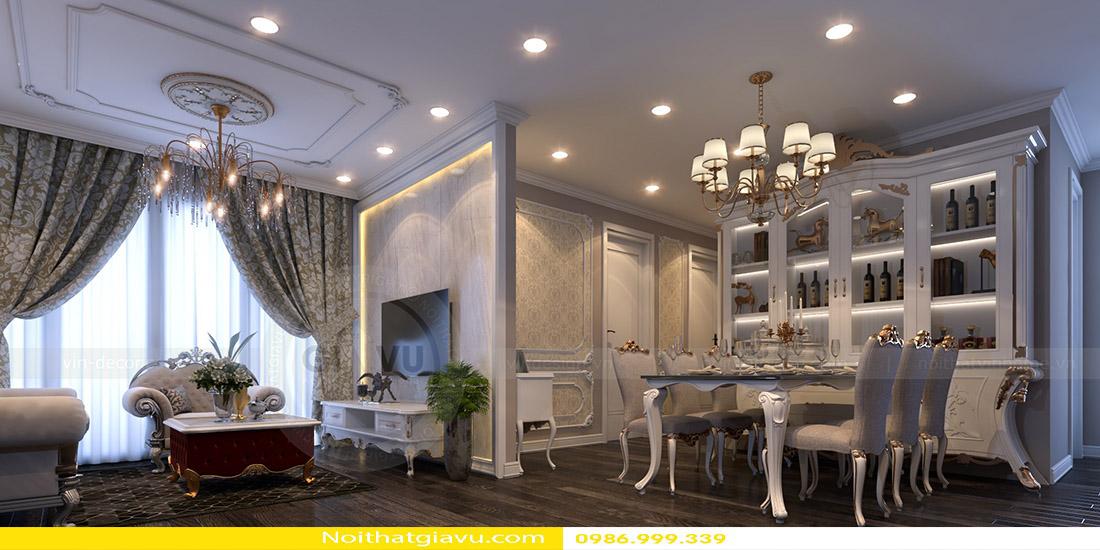 thiết kế nội thất chung cư Gardenia tòa a2 căn 06 03