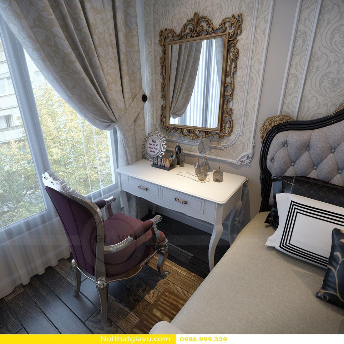 thiết kế nội thất chung cư Gardenia tòa a2 căn 06 10