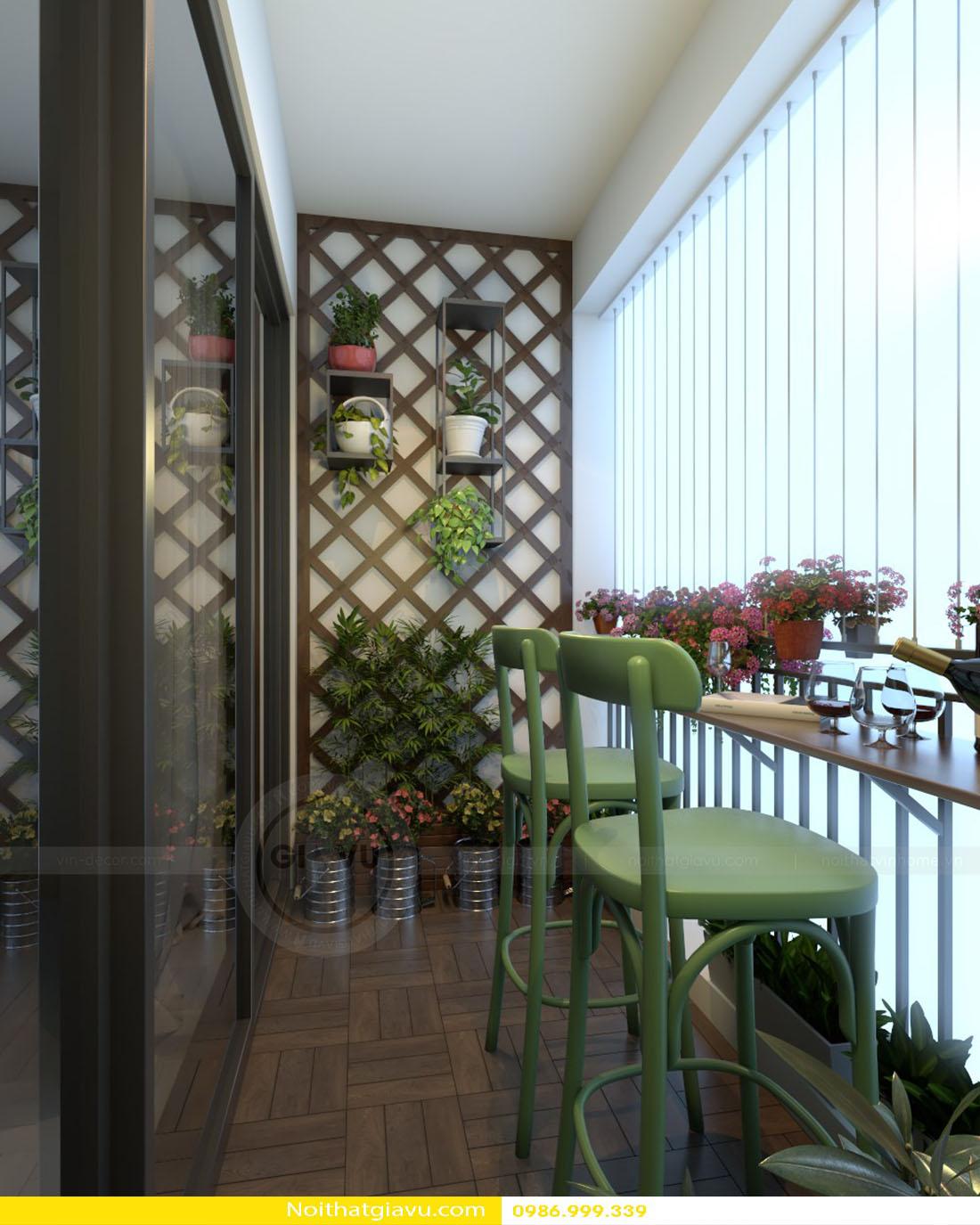 thiết kế nội thất chung cư Gardenia tòa a2 căn 06 16