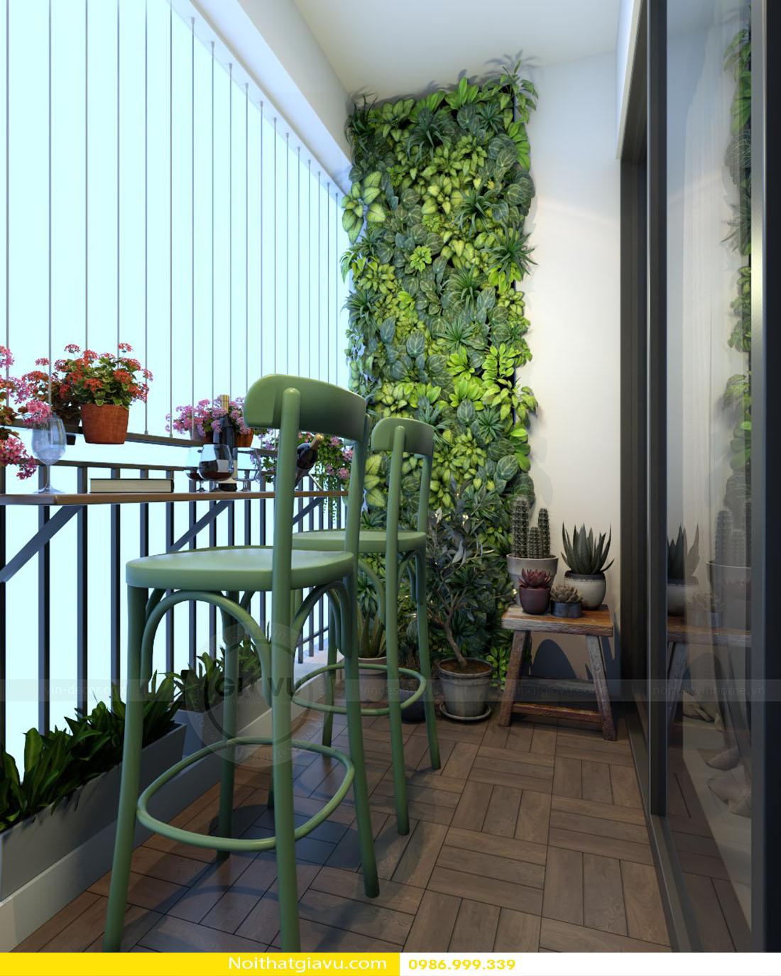 thiết kế nội thất chung cư Gardenia tòa a2 căn 06 17
