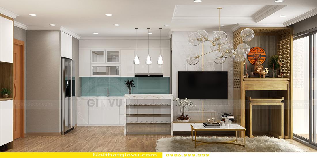 thiết kế nội thất chung cư gardenia tòa a3 căn hộ 12 02