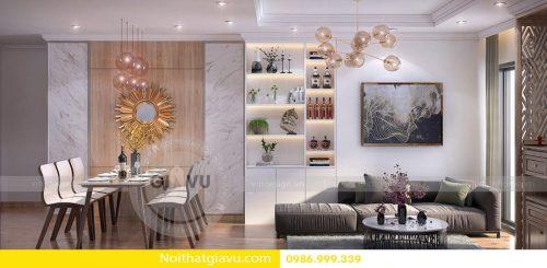 Thiết kế nội thất chung cư với phòng khách hợp mệnh Thổ