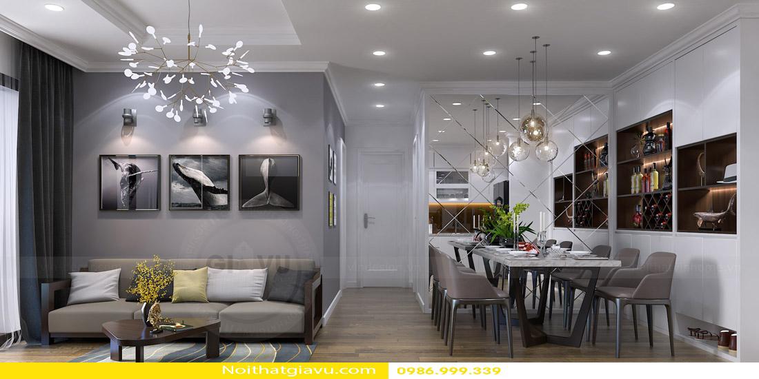 thiết kế nội thất chung cư phòng khách mệnh thổ 02