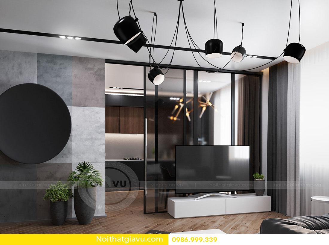 thiết kế nội thất chung cư phòng khách mệnh thổ 03