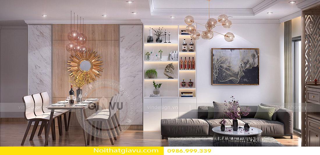 thiết kế nội thất chung cư phòng khách mệnh thổ 04