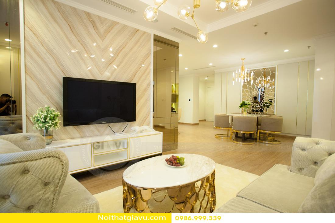 thiết kế nội thất chung cư phòng khách mệnh thổ 05