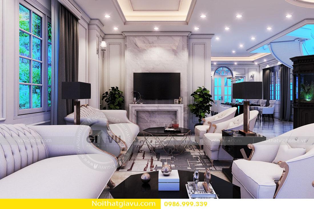 thiết kế nội thất chung cư phòng khách mệnh thổ 06