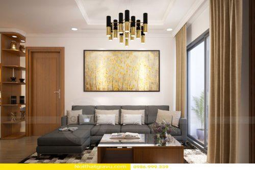 Thiết kế nội thất chung cư với phòng khách hợp mệnh Kim
