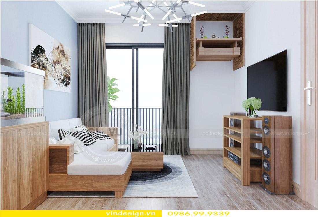thiết kế nội thất chung cư phòng khách mệnh mộc 01