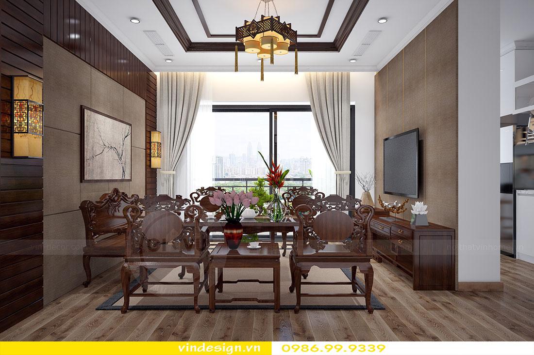 thiết kế nội thất chung cư phòng khách mệnh mộc 02