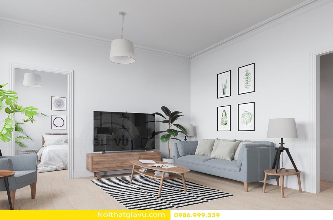 thiết kế nội thất chung cư phòng khách mệnh mộc 03
