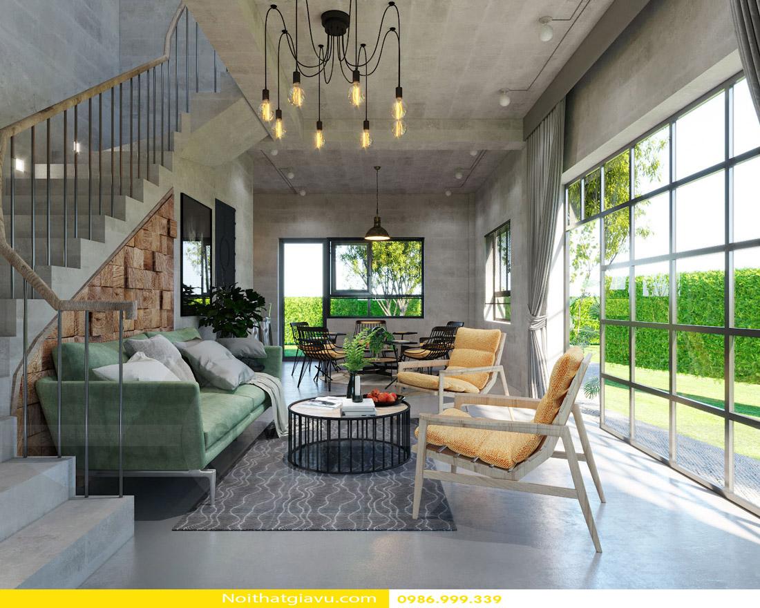 thiết kế nội thất chung cư phòng khách mệnh mộc 04