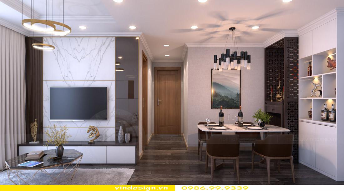 thiết kế nội thất chung cư phòng khách mệnh mộc 05