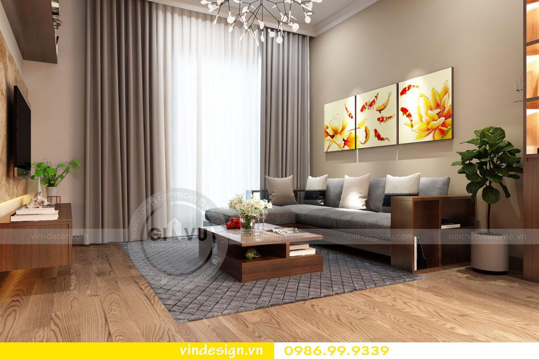 thiết kế nội thất chung cư phòng khách mệnh mộc 06