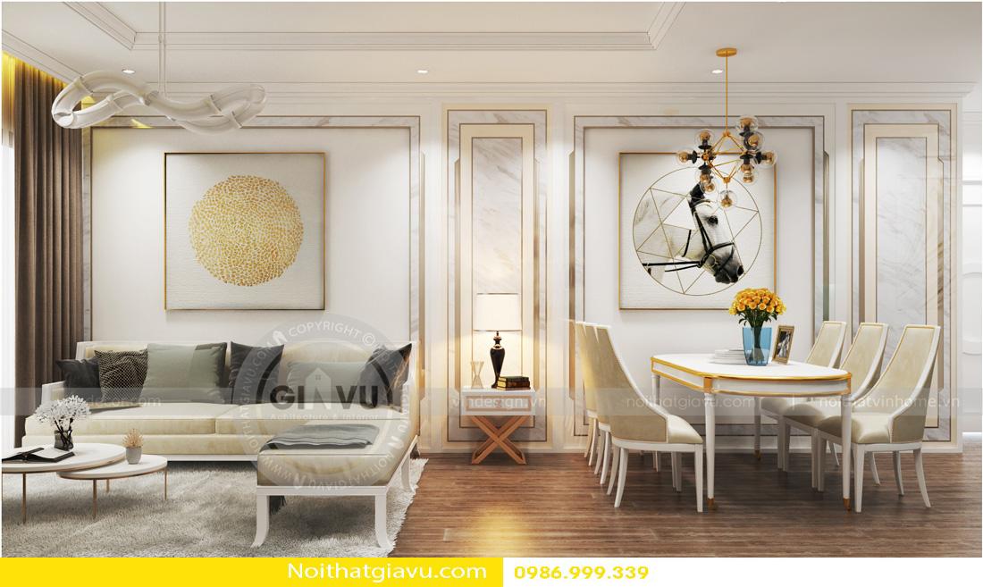 thiết kế nội thất chung cư tân cổ điển và đặc điểm 01