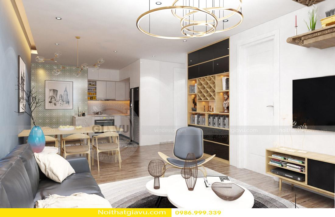 tư vấn thiết kế nội thất chung cư căn hộ 1 phòng ngủ 01
