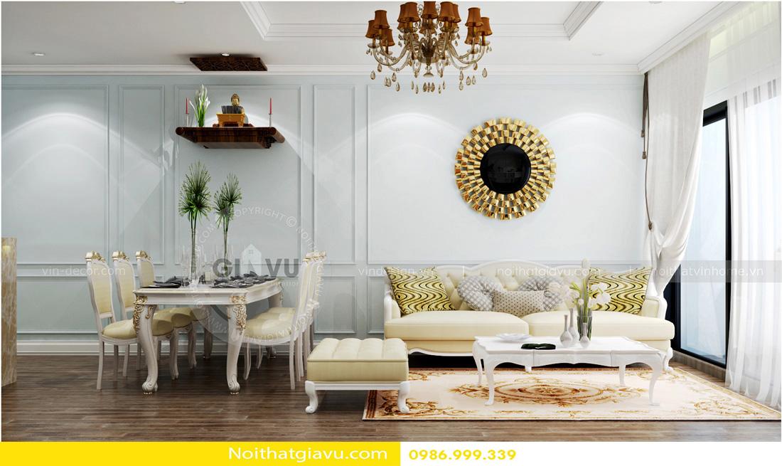 phong cách tân cổ điển thiết kế nội thất chung cư 01