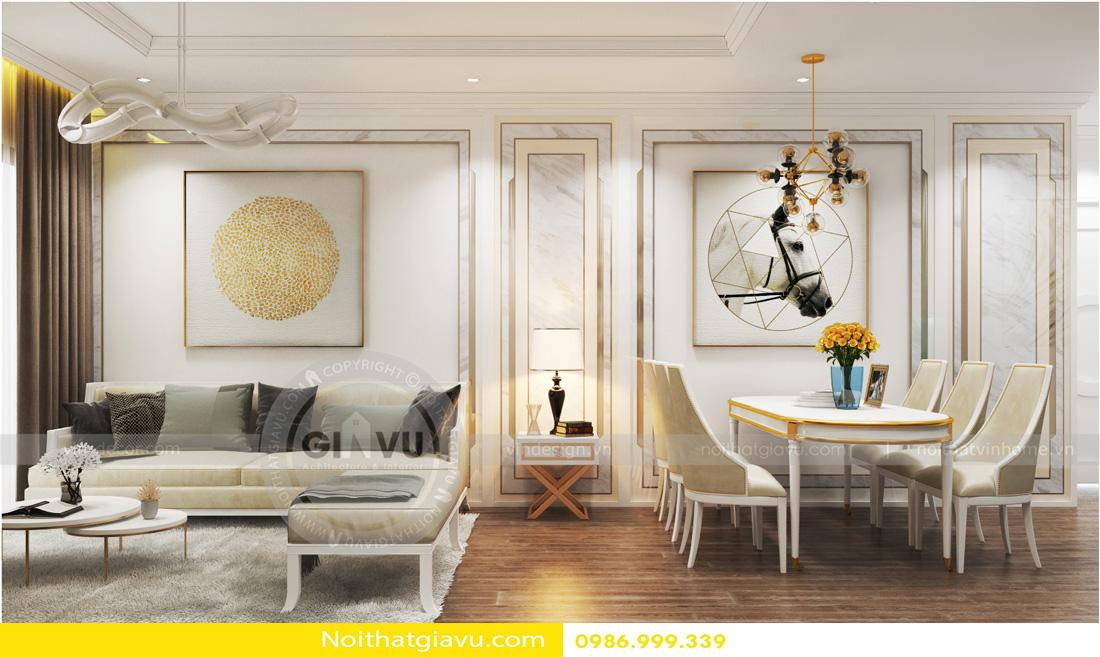 phong cách tân cổ điển thiết kế nội thất chung cư 02