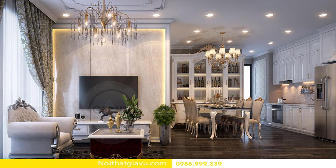 phong cách tân cổ điển thiết kế nội thất chung cư 03