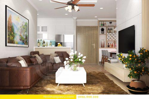 Thiết kế nội thất căn hộ chung cư Gardenia A1 Căn 04 Anh Dũng