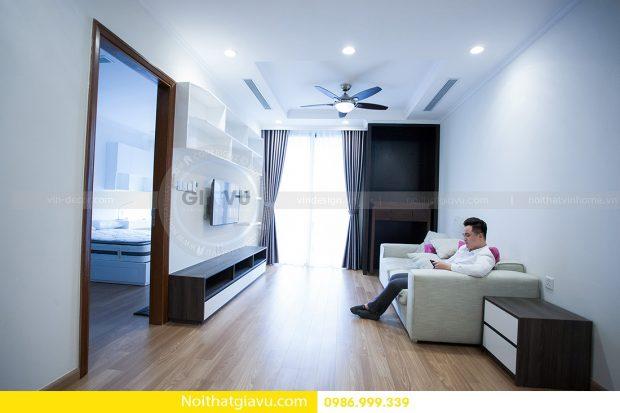 Thiết kế nội thất căn hộ Vinhomes Green Bay 2 phòng ngủ độc đáo