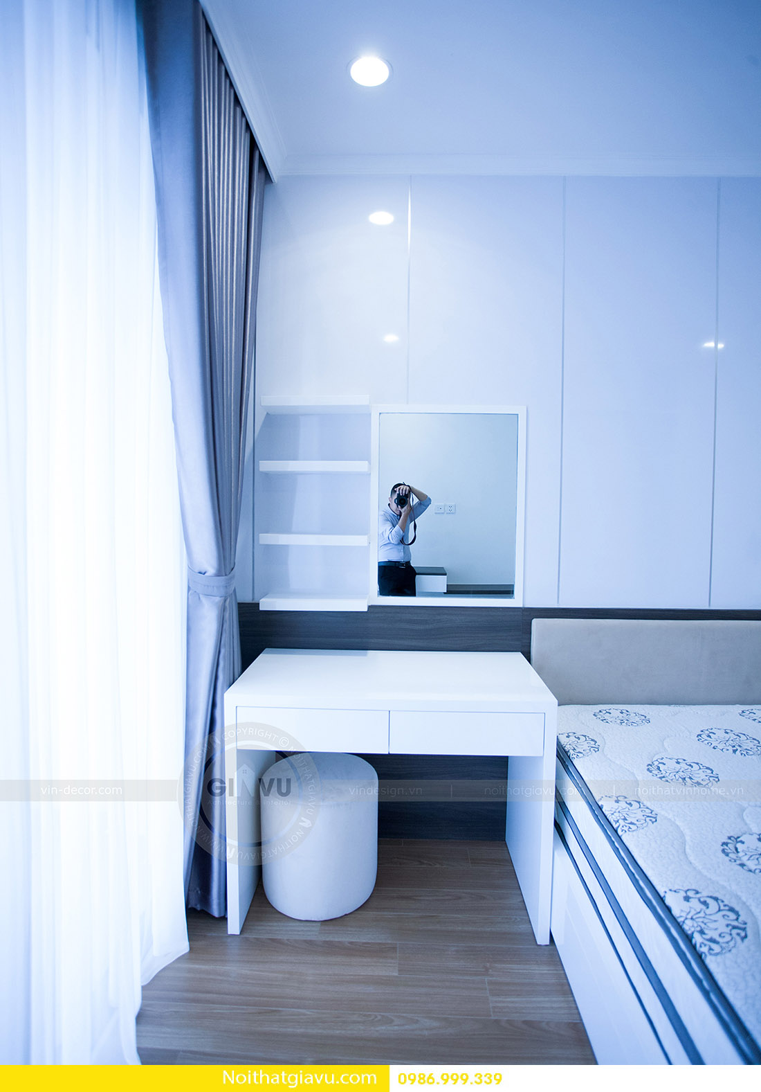 thiết kế nội thất căn hộ Vinhomes Green Bay 2 ngủ 10