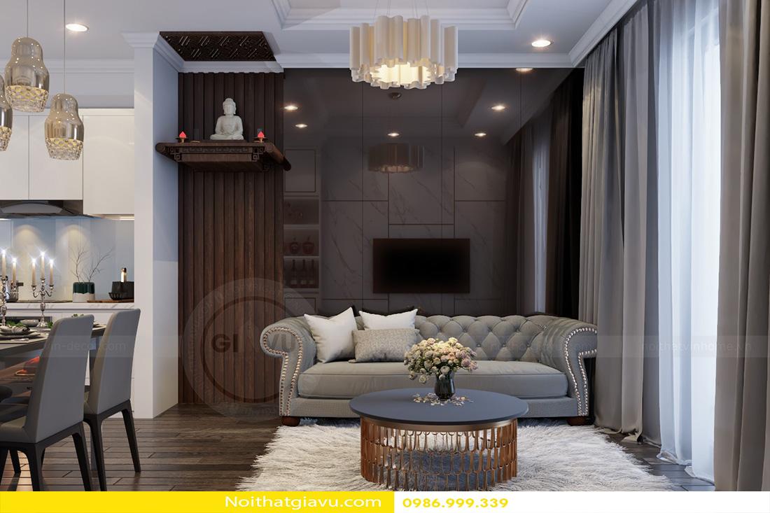 thiết kế nội thất chung cư Vinhomes Green Bay 02