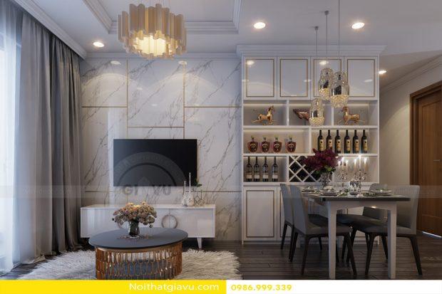 Thiết kế nội thất chung cư Vinhomes Green Bay – Liên hệ 0986999339