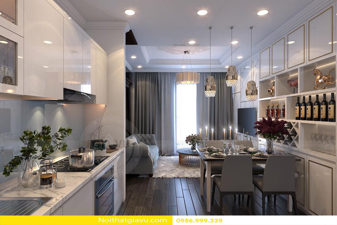 thiết kế nội thất chung cư Vinhomes Green Bay 04