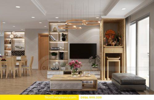 Thiết kế nội thất Vinhomes Park Hill 10 căn hộ 05 nhà chú Mậu