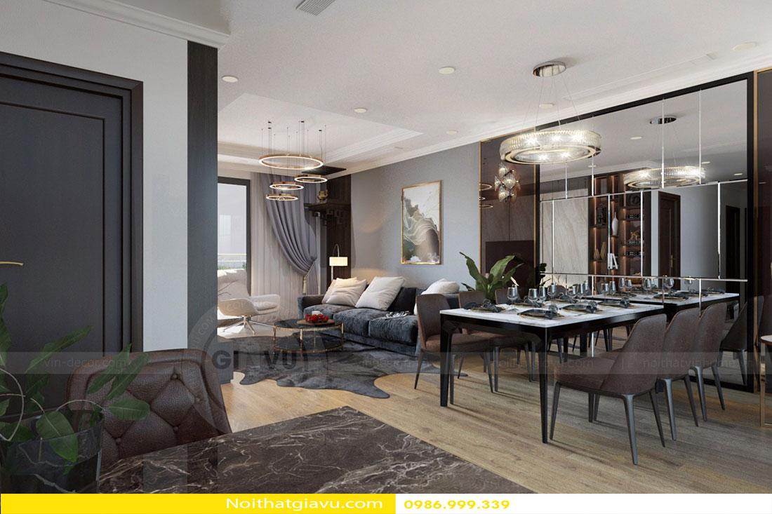 Chung cư D'Capitale - Mẫu thiết kế nội thất chung cư hiện đại 5