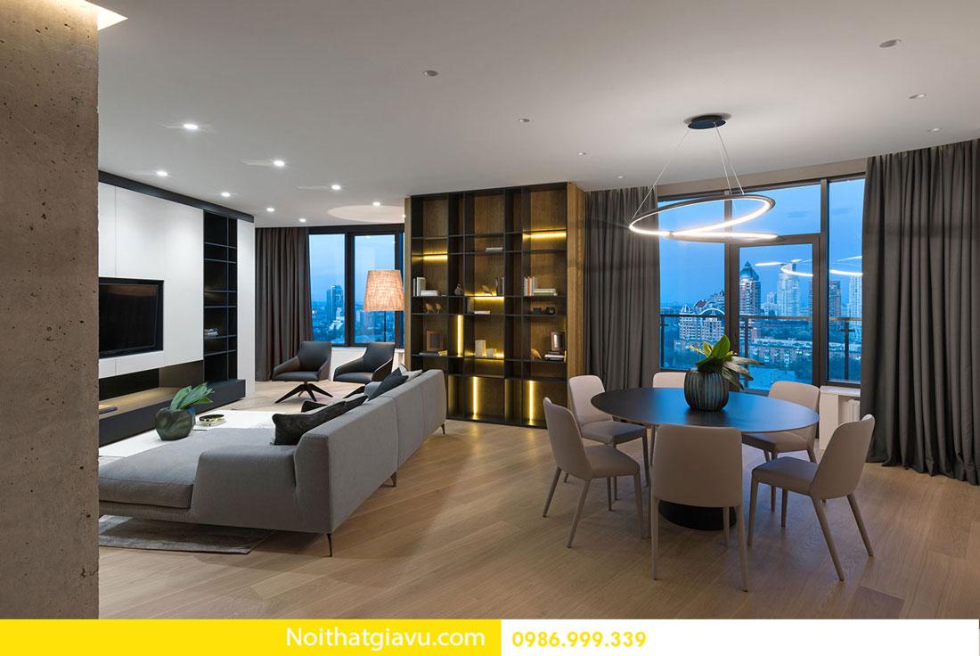 mẫu thiết kế nội thất chung cư hiện đại trẻ trung 01
