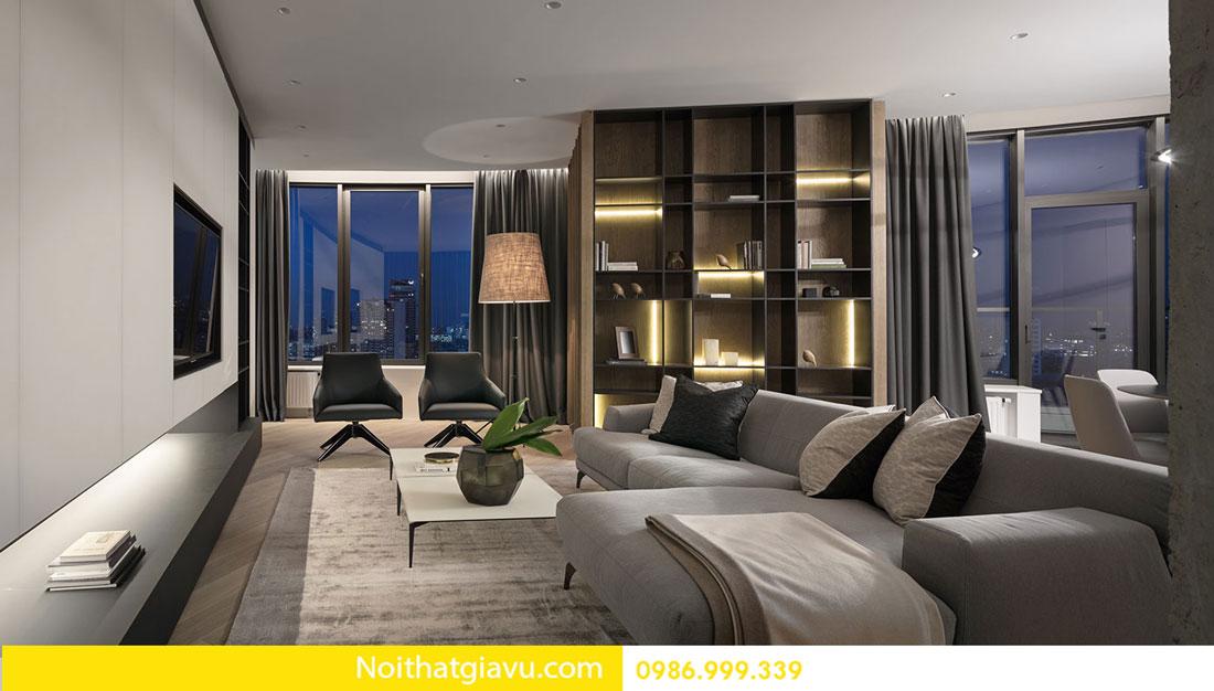 mẫu thiết kế nội thất chung cư hiện đại trẻ trung 02