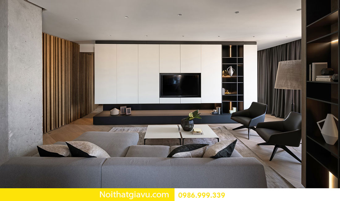 mẫu thiết kế nội thất chung cư hiện đại trẻ trung 03