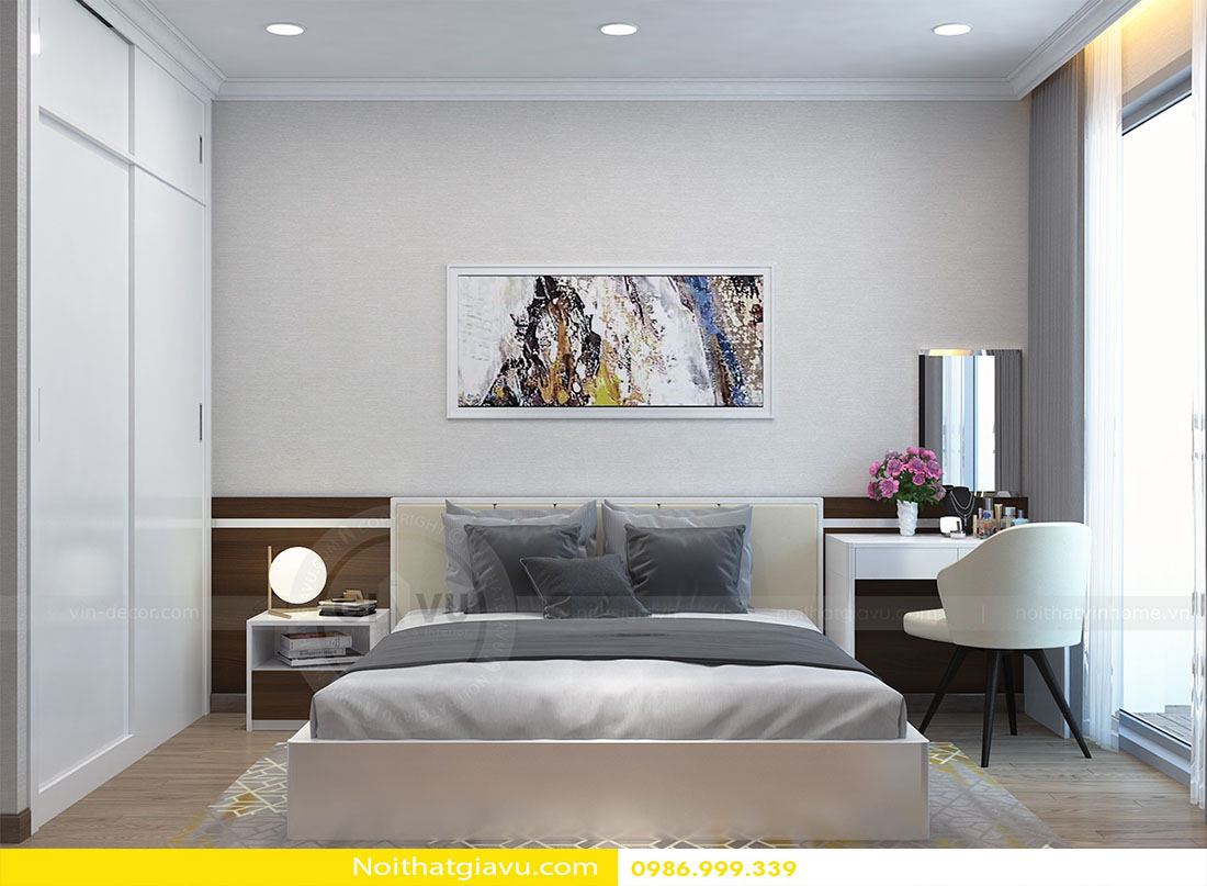 mẫu thiết kế nội thất phòng ngủ chung cư đẹp hiện đại 2018 06