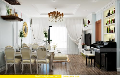 Nội thất phòng khách chung cư đẹp đẳng cấp, hiện đại