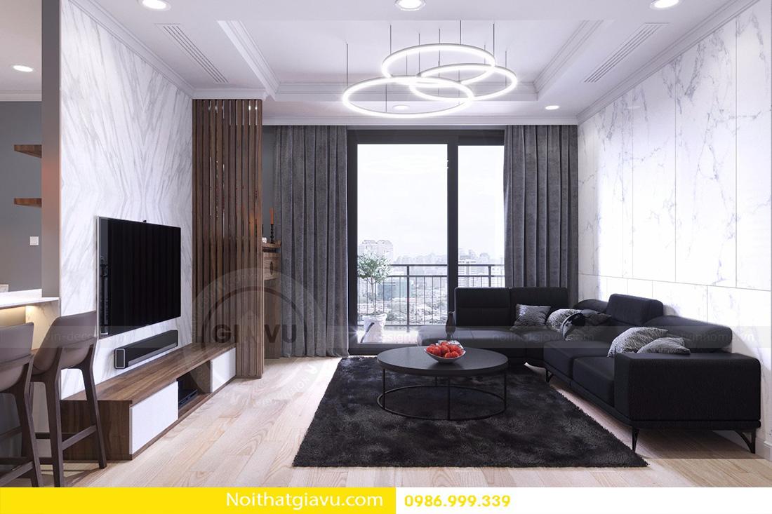 thiết kế nội thất căn hộ D'capitale 2 phòng ngủ 03