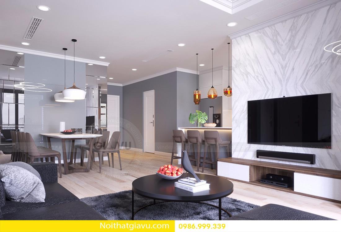 thiết kế nội thất căn hộ D'capitale 2 phòng ngủ 04