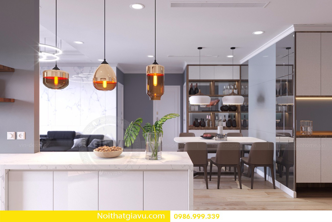 thiết kế nội thất căn hộ D'capitale 2 phòng ngủ 05