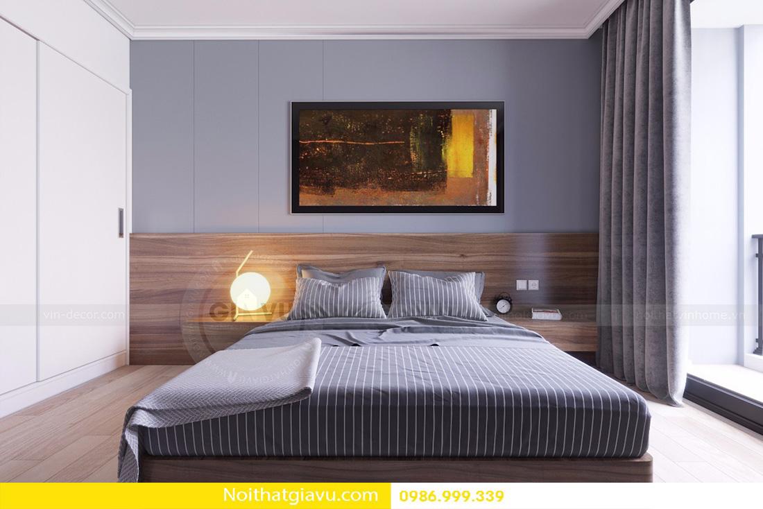 thiết kế nội thất căn hộ D'capitale 2 phòng ngủ 09
