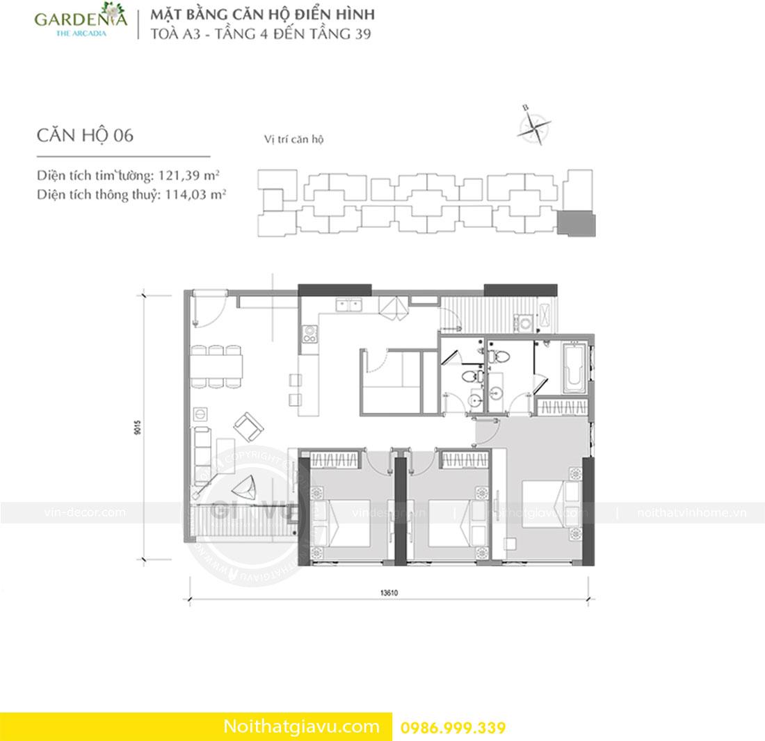 Thiết kế nội thất chung cư Gardenia tòa A3 căn 06 view 1