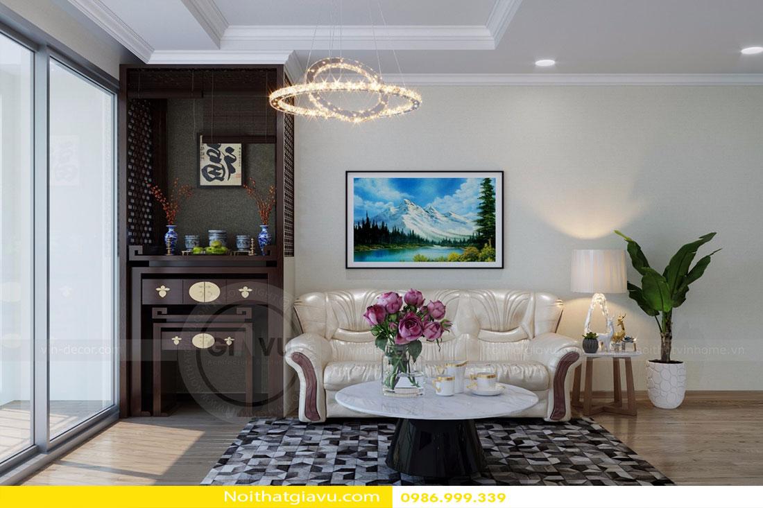 Thiết kế nội thất chung cư Gardenia tòa A3 căn 06 view 3
